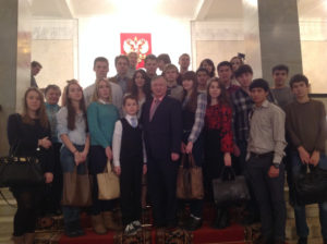 Встреча участников студии «Проба пера» - школа журналистов с Карповым